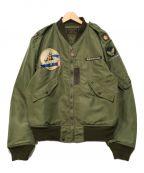 BUZZ RICKSON'S()の古着「パッチカスタムL-2フライトジャケット」|グリーン