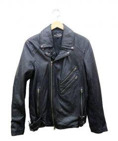 JACKROSE(ジャック・ローズ)の古着「ゴートスキンライダースジャケット」|ブラック