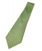 HERMES(エルメス)の古着「総柄ネクタイ」|グリーン