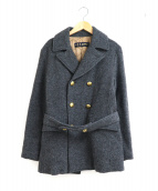 45rpm(フォーティファイブアールピーエム)の古着「メタルボタンウールPコート」|グレー