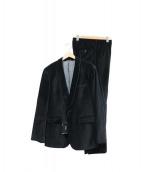 BOSS HUGO BOSS(ボス ヒューゴボス)の古着「ベルベッドセットアップスーツ」|ブラック