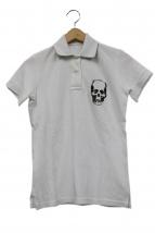 Lucien pellat-finet(ルシアンペラフィネ)の古着「スカル刺繍ポロシャツ」|ホワイト