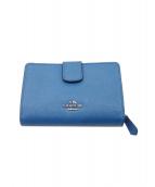 COACH(コーチ)の古着「2つ折り財布」|ブルー