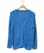 Coohem(コーヘン)の古着「コットンリネンアランカーディガン」|ブルー
