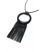 crescioni(クレッシオーニ)の古着「フリンジレザーネックレス」|ブラック