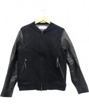MAM(マム)の古着「袖ホースレザースタジャン」|ブラック