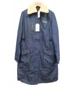AVIREX(アヴィレックス)の古着「ライナー付きデニムコート」|ブルー