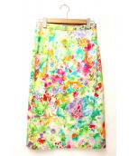 LEONARD(レオナール)の古着「フラワープリントスカート」