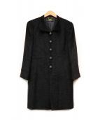 LEILIAN(レリアン)の古着「パワーショルダーコート」|ブラック