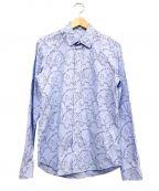 MCQ(マックキュー)の古着「総柄シャツ」 ブルー