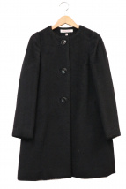 DRESSTERIOR(ドレステリア)の古着「アルパカシャギーノーカラーコート」|ブラック