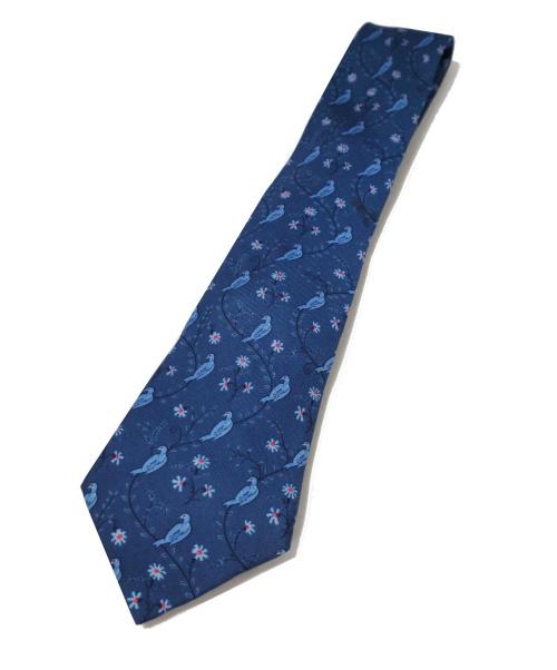 HERMES(エルメス)HERMES (エルメス) ネクタイ ブルー サイズ:- シルク100% フランス製の古着・服飾アイテム