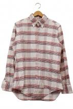 THOM BROWNE(トム ブラウン)の古着「トリコロールチェックシャツ」