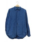 FRANK LEDER(フランクリーダー)の古着「藍染リネンシャツ」