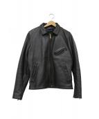 VANSON(バンソン)の古着「シングルライダースジャケット」|ブラック