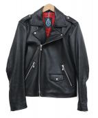 GUILD PRIME(ギルドプライム)の古着「ダブルライダースジャケット」 ブラック