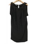 MIU MIU(ミュウミュウ)の古着「ブラウスワンピース」 ブラック