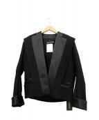 BALMAIN(バルマン)の古着「ワイドラペルショートジャケット」|ブラック