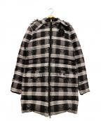 lucien pellat-finet(ルシアン・ペラフィネ)の古着「スカルチェックダウンコート」|ブラック