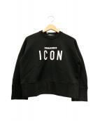 DSQUARED2(ディースクエアード)の古着「ICON刺繍スウェット」|ブラック
