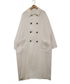 SETTO(セット)の古着「コットンダブルコート」|ホワイト