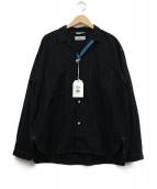 WORK NOT WORK(ワークノットワーク)の古着「オープンカラービッグシャツ」|ブラック
