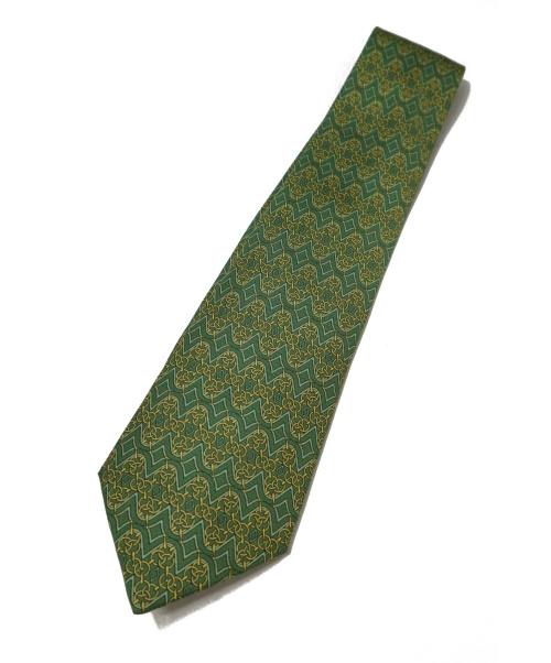 HERMES(エルメス)HERMES (エルメス) ネクタイ オリーブ サイズ:- シルク100% フランス製の古着・服飾アイテム