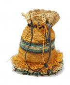 JAMIN PUECH(ジャマンピュエッシュ)の古着「ラフィアハンドバッグ」 ベージュ