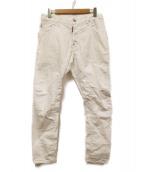 DSQUARED2(ディースクエアード)の古着「立体裁断5ポケットパンツ」|ホワイト