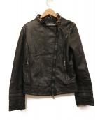 EMPORIO ARMANI(エンポリオアルマーニ)の古着「ライダースジャケット」|ブラック