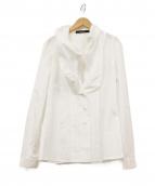 GIVENCHY(ジバンシー)の古着「パフラペルシャツ」|ホワイト