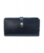 GLENROYAL(グレンロイヤル)の古着「ブライドルレザー2つ折り財布」|ネイビー