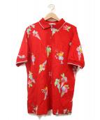 LEONARD SPORT(レオナールスポーツ)の古着「鹿の子ポロシャツ」|レッド