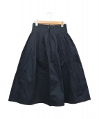GRANDMA MAMA DAUGHTER(グランマママドーター)の古着「プリーツチノロングスカート」|ネイビー