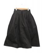GRANDMA MAMA DAUGHTER(グランマママドーター)の古着「プリーツチノロングスカート」|ブラック