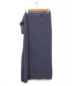 unfil(アンフィル)の古着「high twist cotton cable-knit w」 ブルー