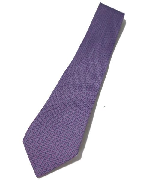 HERMES(エルメス)HERMES (エルメス) ネクタイ パープル サイズ:- フランス製 シルク100%の古着・服飾アイテム
