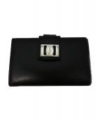 Salvatore Ferragamo(サルヴァトーレ フェラガモ)の古着「2つ折り財布」|ブラック