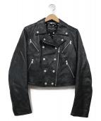 DOLCE & GABBANA(ドルチェアンドガッバーナ)の古着「ゴートスキンライダースジャケット」|ブラック