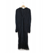 NINA RICCI(ニナリッチ)の古着「ブラウスワンピース」 ブラック