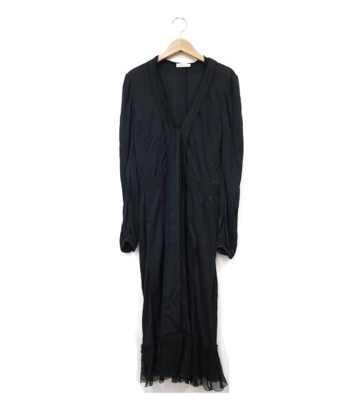 NINA RICCI(ニナリッチ)NINA RICCI (ニナリッチ) ブラウスワンピース ブラック サイズ:36 シルク100% フランス製の古着・服飾アイテム