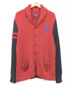 POLO RALPH LAUREN(ポロラルフローレン)の古着「ショールカラーカーディガン」|レッド
