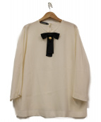 DOLCE & GABBANA(ドルチェ&ガッバーナ)の古着「リボンブラウス」|ホワイト