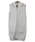 DOUBLE STANDARD CLOTHING(ダブルスタンダードクロージング)の古着「ニットフーデッドベスト」|ホワイト