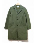 ordinary fits(オーディナリーフィッツ)の古着「60/40クロスチェスターコート」|グリーン