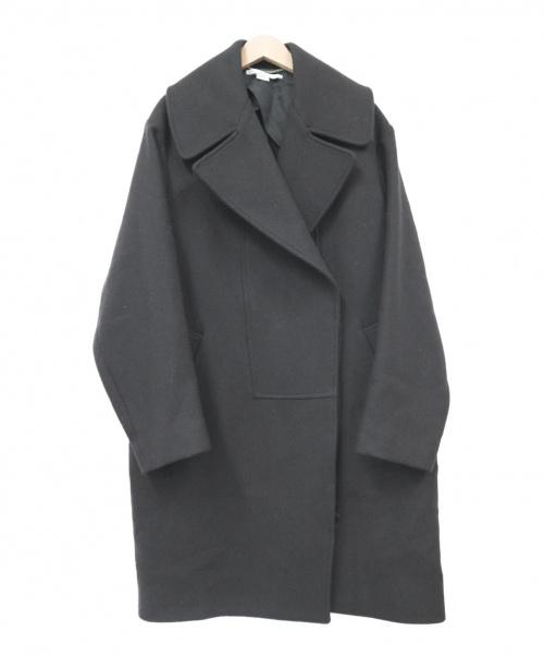 Stella McCartney(ステラマッカートニー)STELLA McCARTNEY (ステラ・マッカートニー) ダブルブレストウールコート ブラック サイズ:38の古着・服飾アイテム