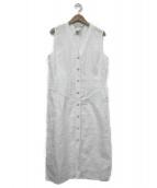 MaxMara(マックスマーラー)の古着「ノースリーブシャツワンピース」|ホワイト