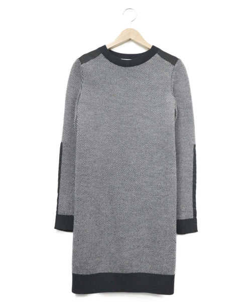 3.1 phillip lim(スリーワンフィリップリム)3.1 phillip lim (3.1 フィリップリム) 切替ニットワンピース ブラック サイズ:XSの古着・服飾アイテム