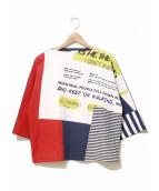 Ameri VINTAGE(アメリビンテージ)の古着「ワイドスリーブカットソー」|マルチカラー