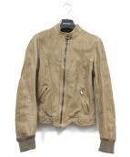 DOLCE & GABBANA(ドルチェ&ガッバーナ)の古着「ラムレザージャケット」 ブラック